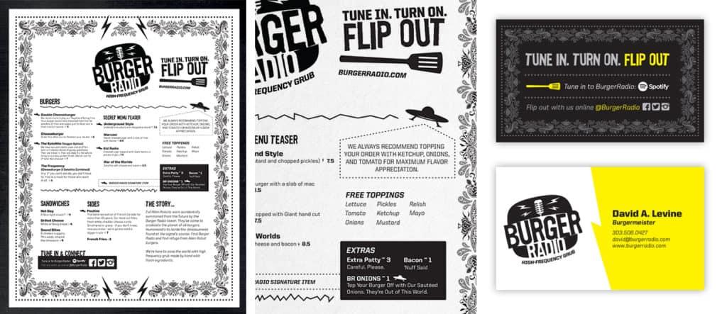 Burger Radio food truck branding
