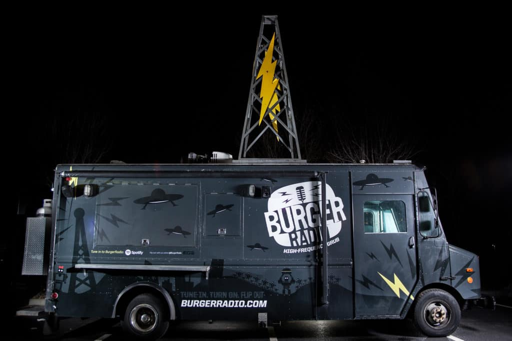 Burger Radio food truck branding and design