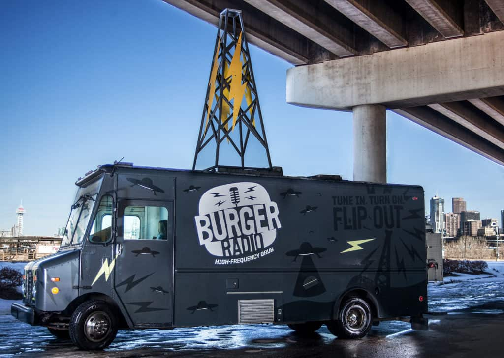 Burger Radio food truck branding