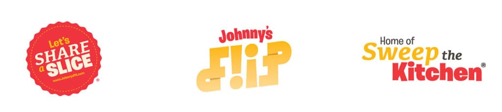 Johnny's Pizza House secondary marks and logo designs rebranding