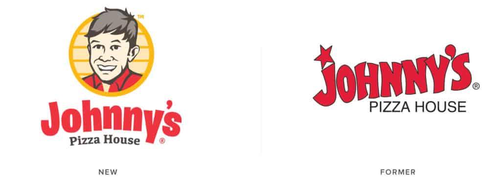 Johnny's Pizza House pizza restaurant rebranding design logo evolution