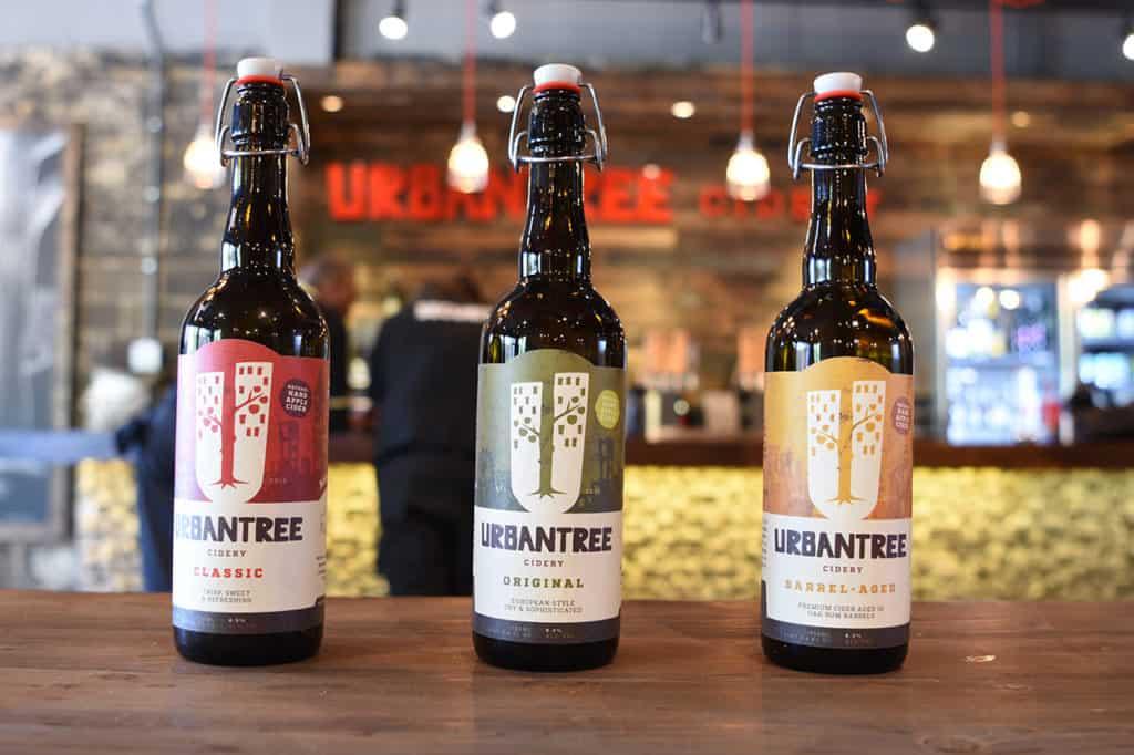 Urban Tree Cidery branding and package desig