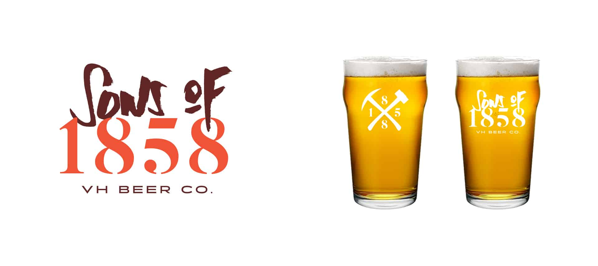 Sons of 1858 craft beer branding and marketing design