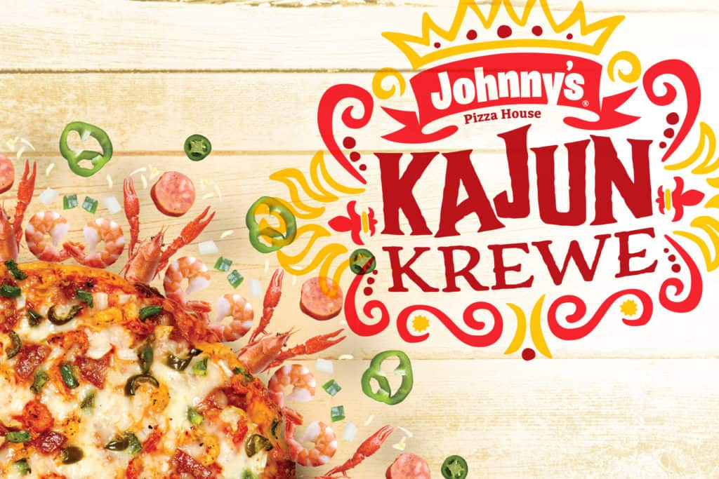 Johnny's Pizza House - advertising campaign creative and strategy for Kajun Krewe