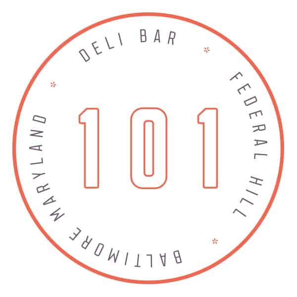 101 Delibar restaurant concept development and branding logo design