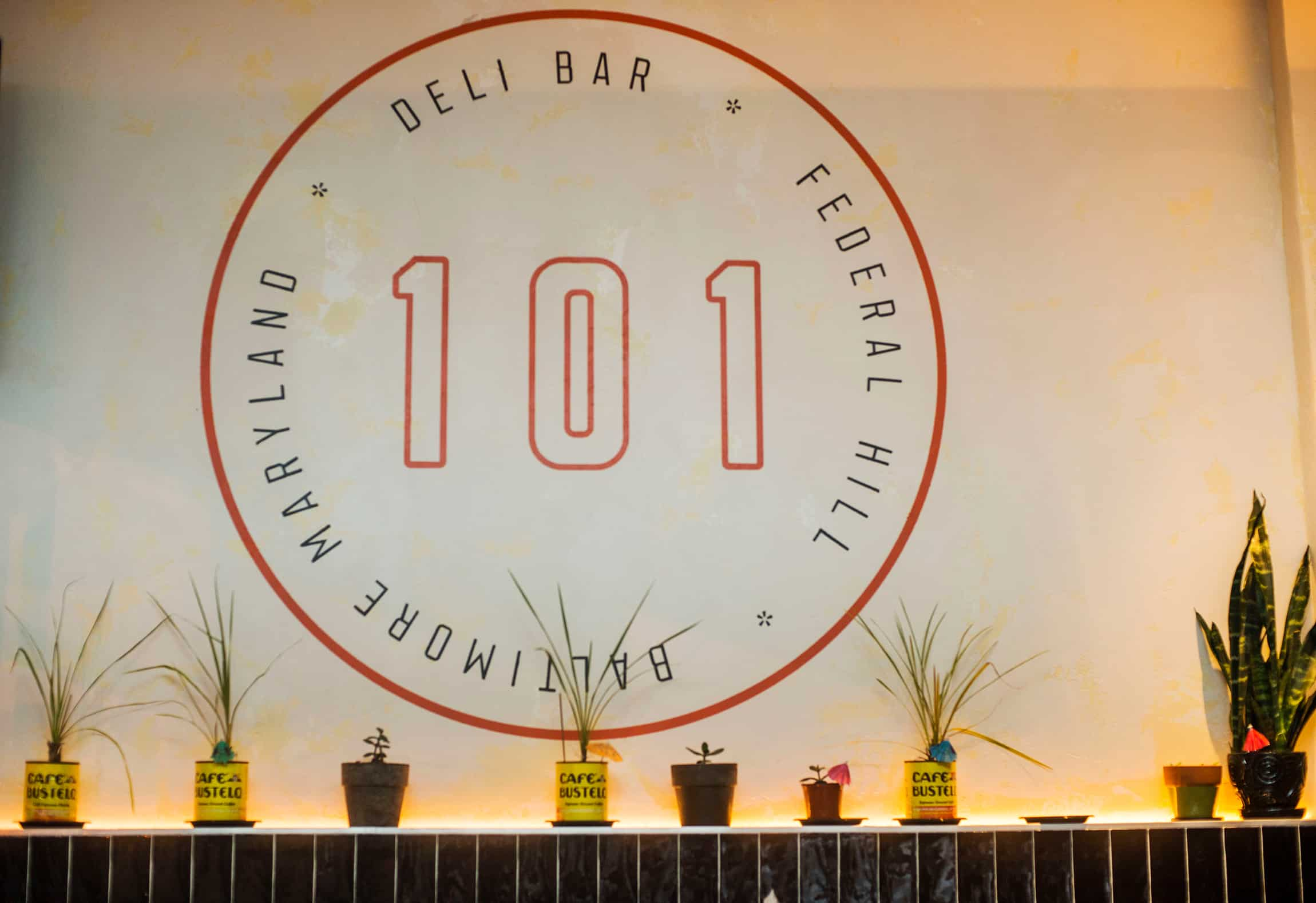 101 Delibar restaurant concept development and branding interior design wayfinding signage design