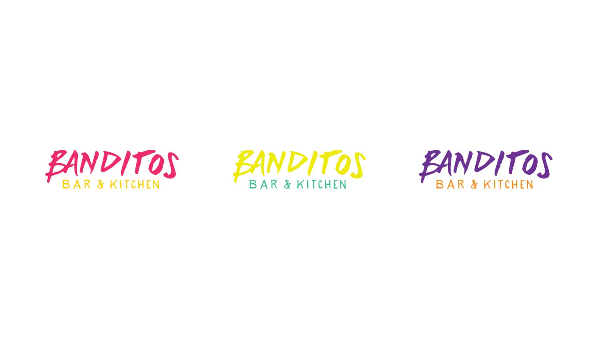 Banditos bar and kitchen rebranding and design by Vigor logo identity design