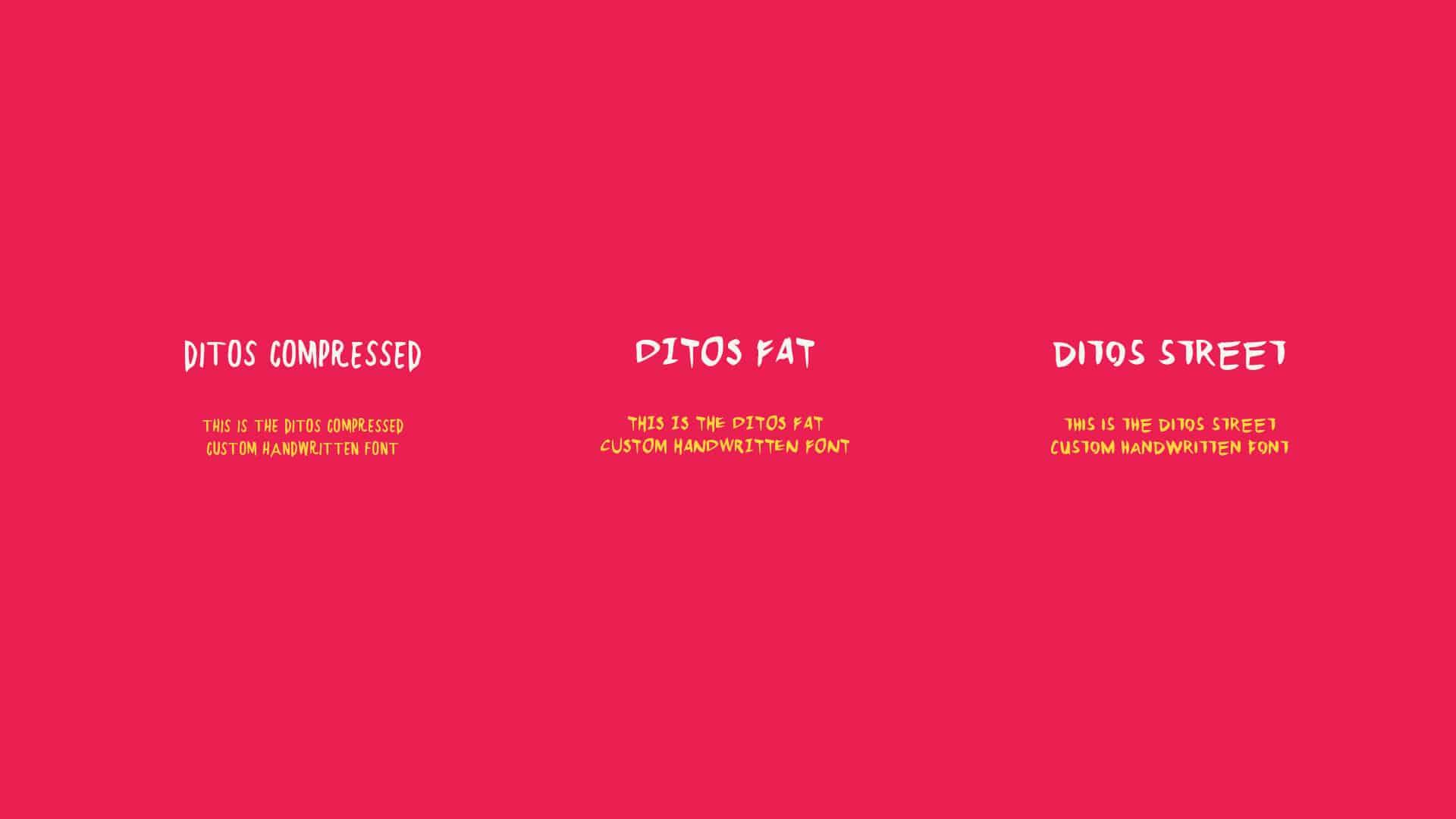 Banditos bar and kitchen rebranding and design by Vigor custom typography design