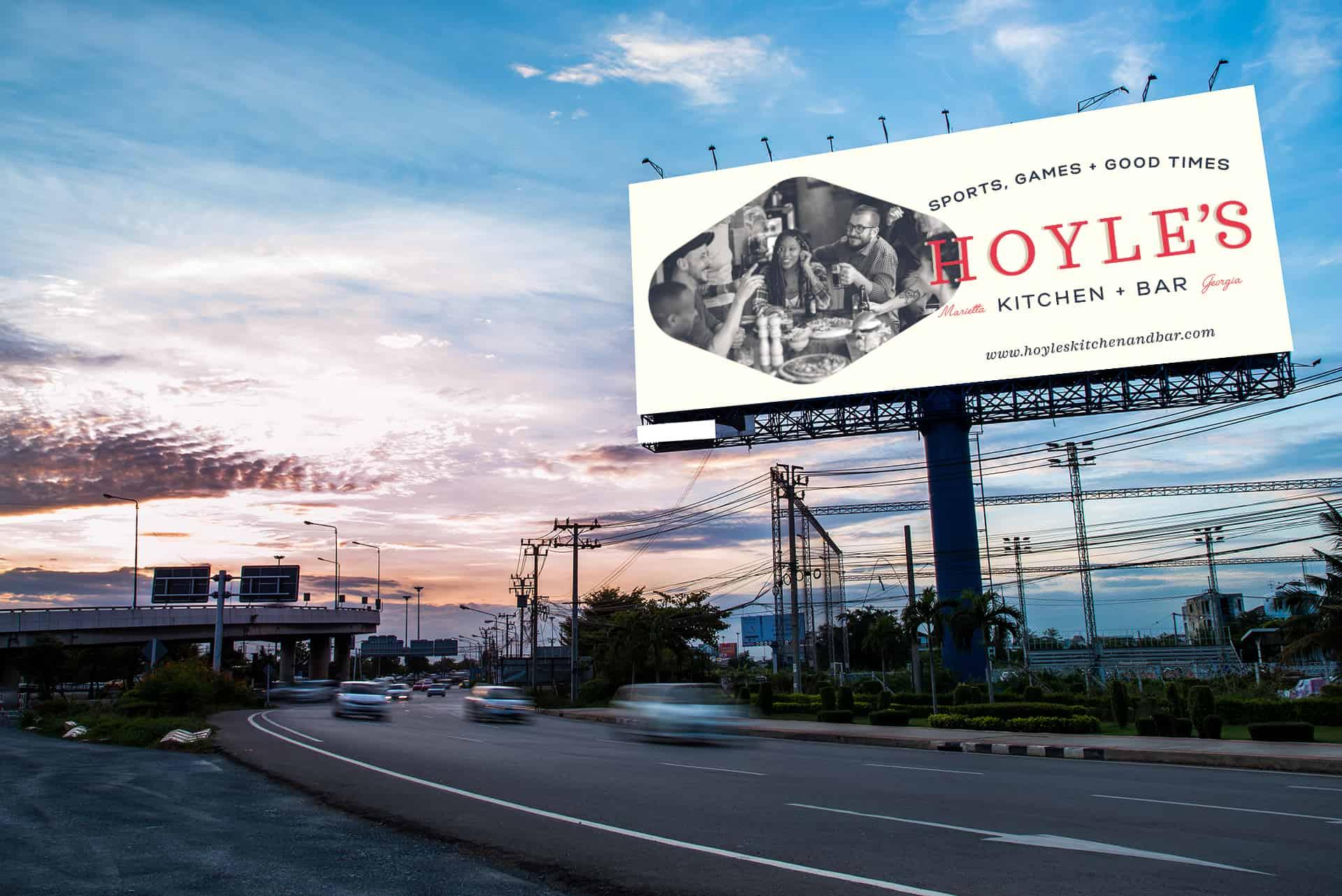 Hoyle's Kitchen & Bar restaurant rebranding and design marketing and advertisement design
