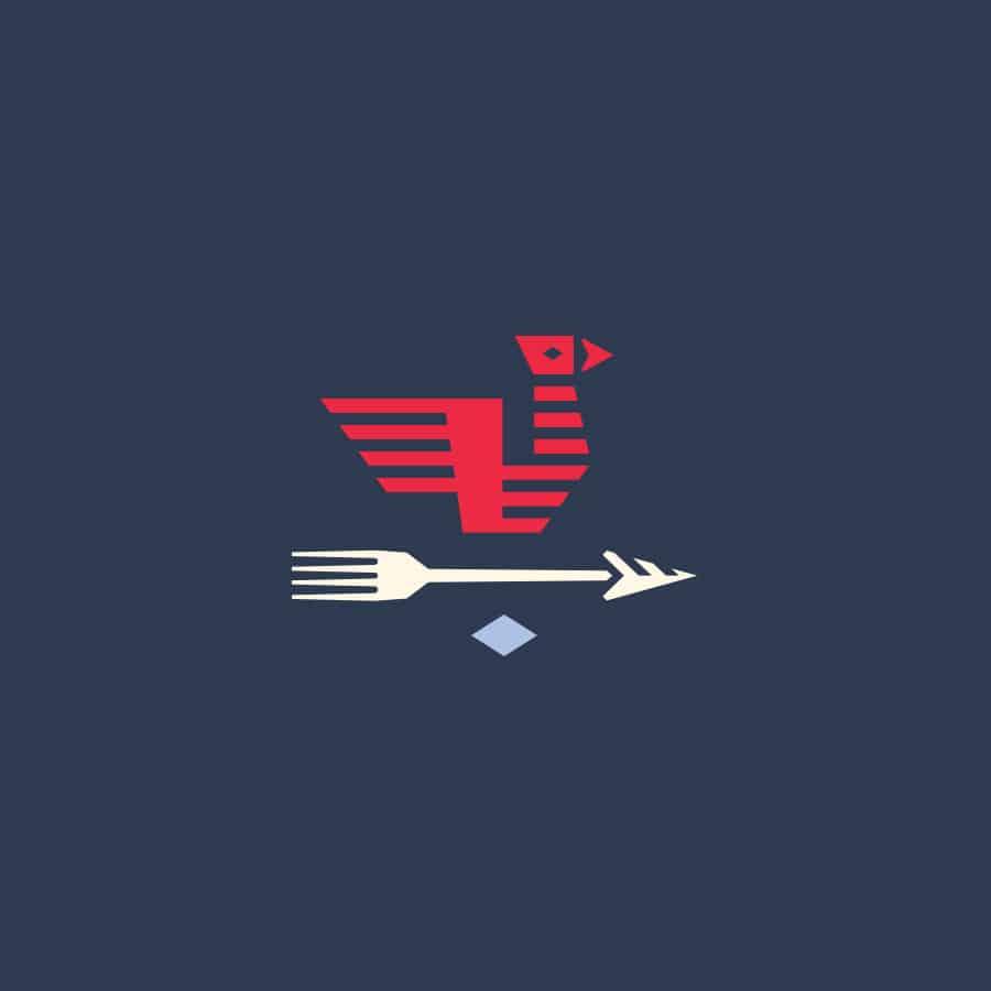 Hoyle's Kitchen & Bar restaurant rebranding and design brand mark identity design