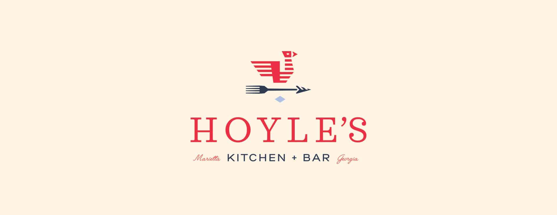 Hoyle's Kitchen & Bar restaurant rebranding and design logo design