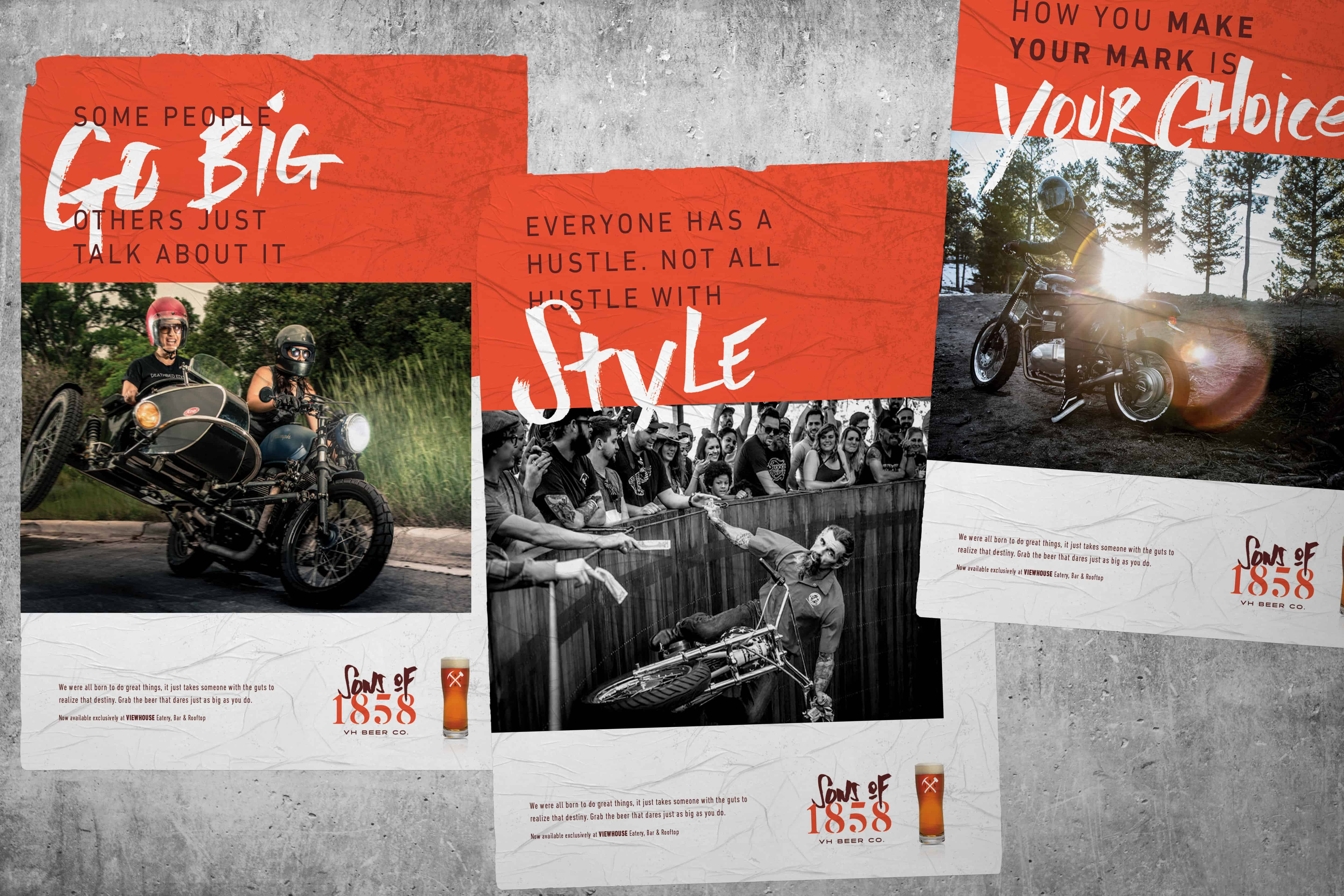 Sons of 1858 craft beer branding, packaging and design advertising and onpremise marketing
