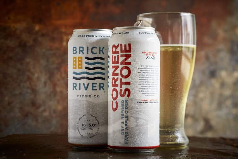 Brick River Cider Co branding and packaging design