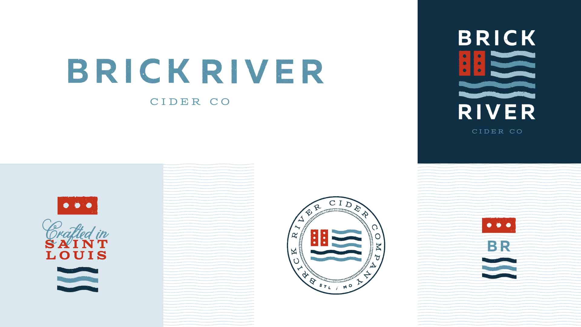 Brick River Cider co branding and brand identity design