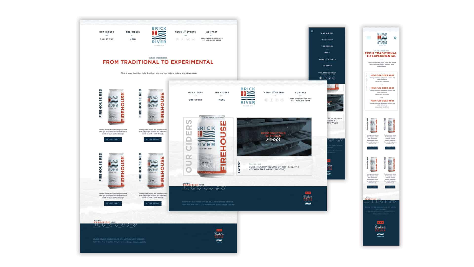 Brick River Cider website design and development