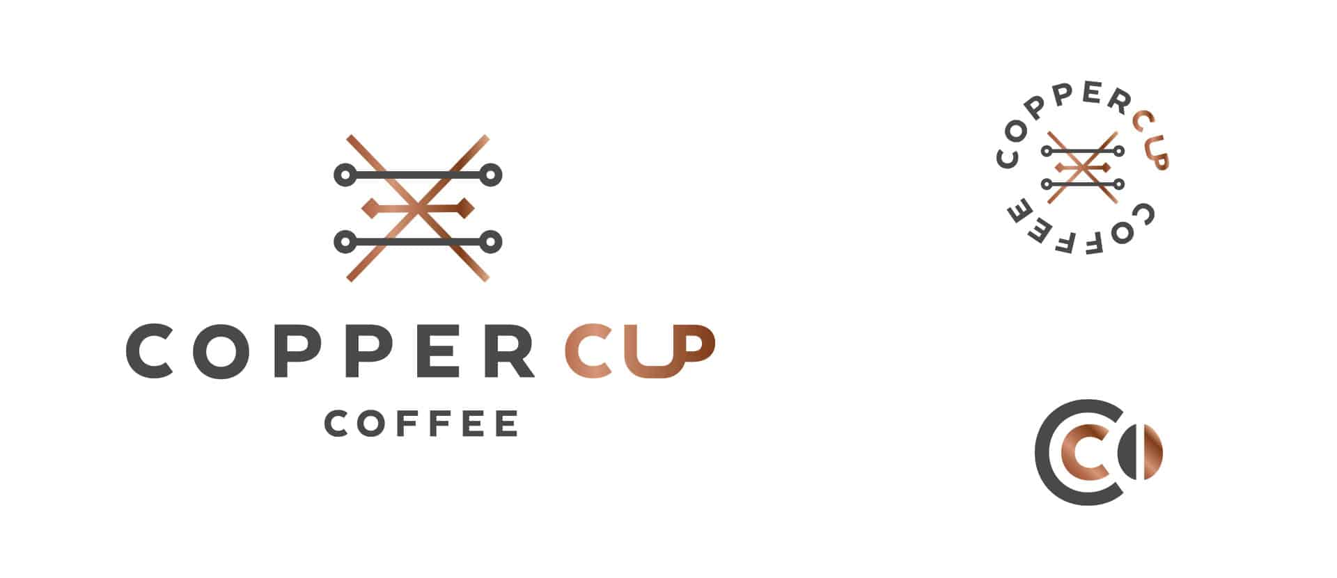 Copper Cup Coffee Company restaurant and cafe branding and concept development logo design and secondary logos