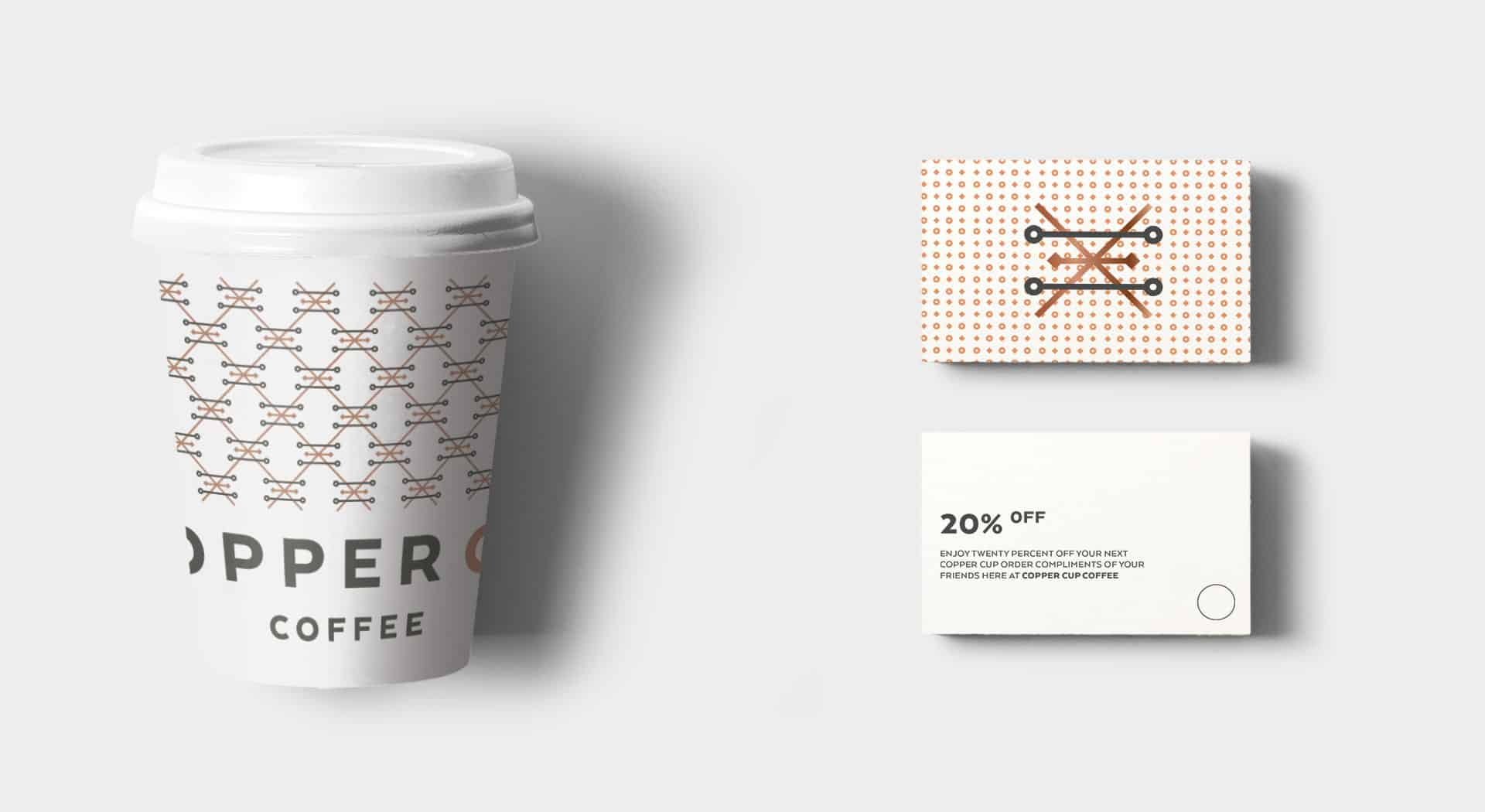 Copper Cup Coffee Company restaurant and cafe branding and concept development packaging design
