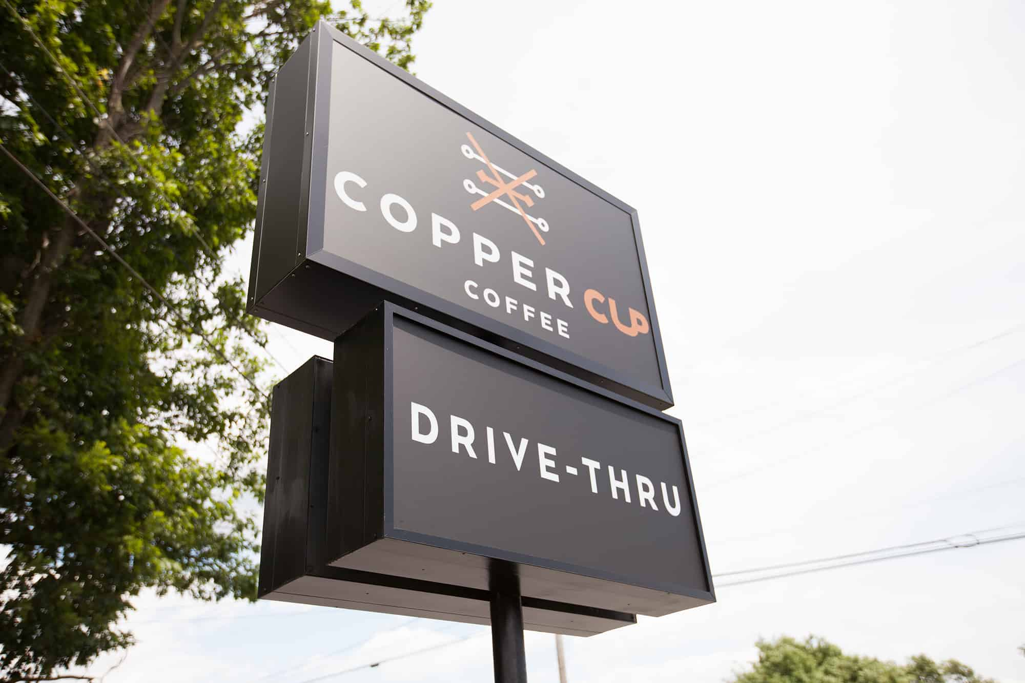 Copper Cup Coffee Company restaurant and cafe branding and concept development