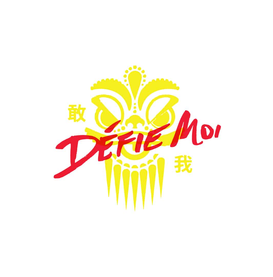 Defie Moi popup asian fusion restaurant primary logo design