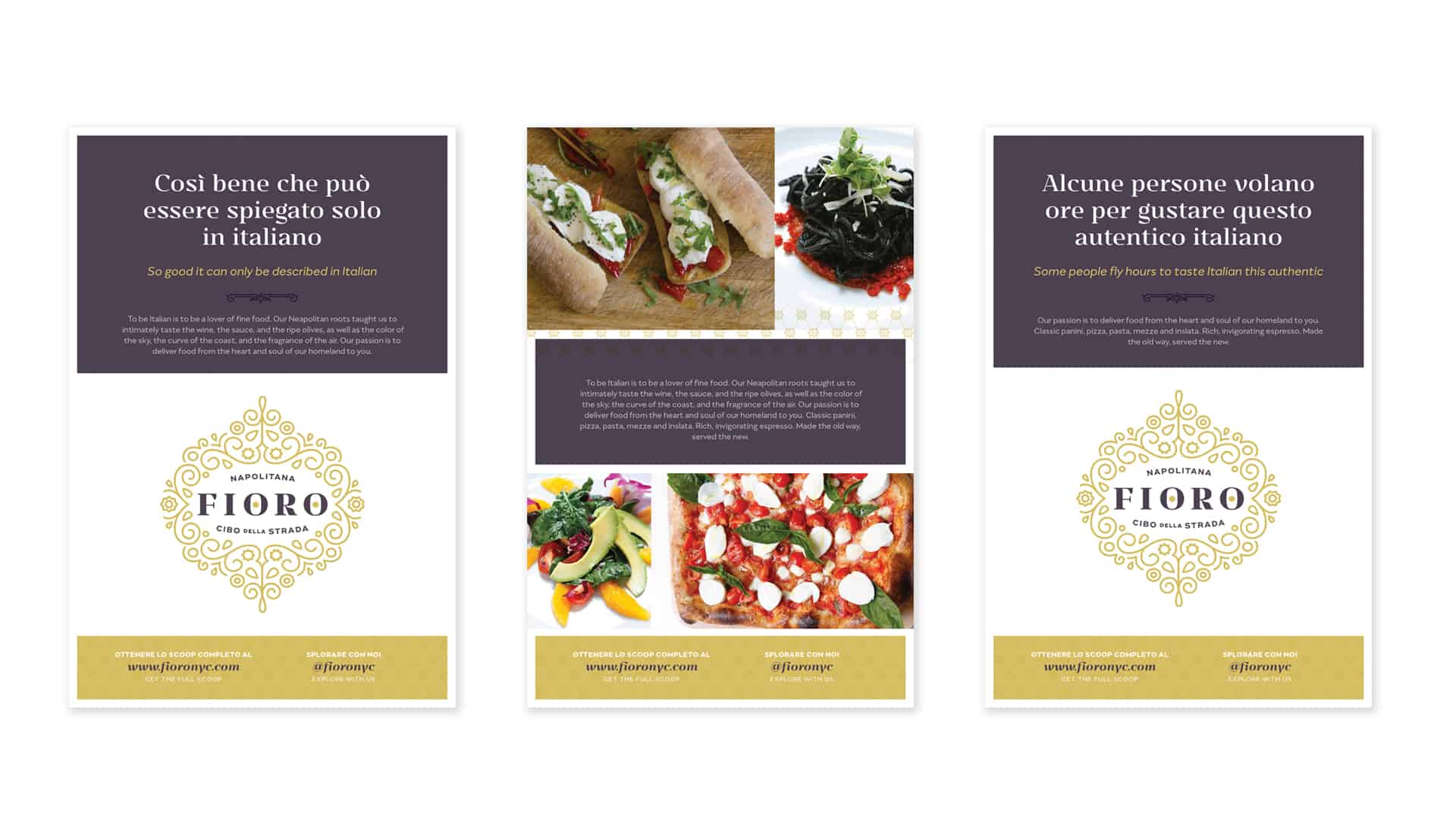 Fioro italian fast casual restaurant concept development and branding