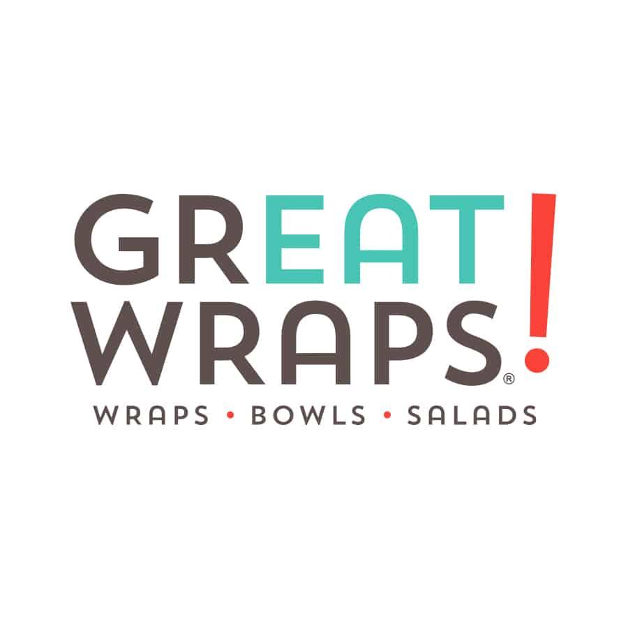 Great Wraps QSR restaurant rebranding logo design