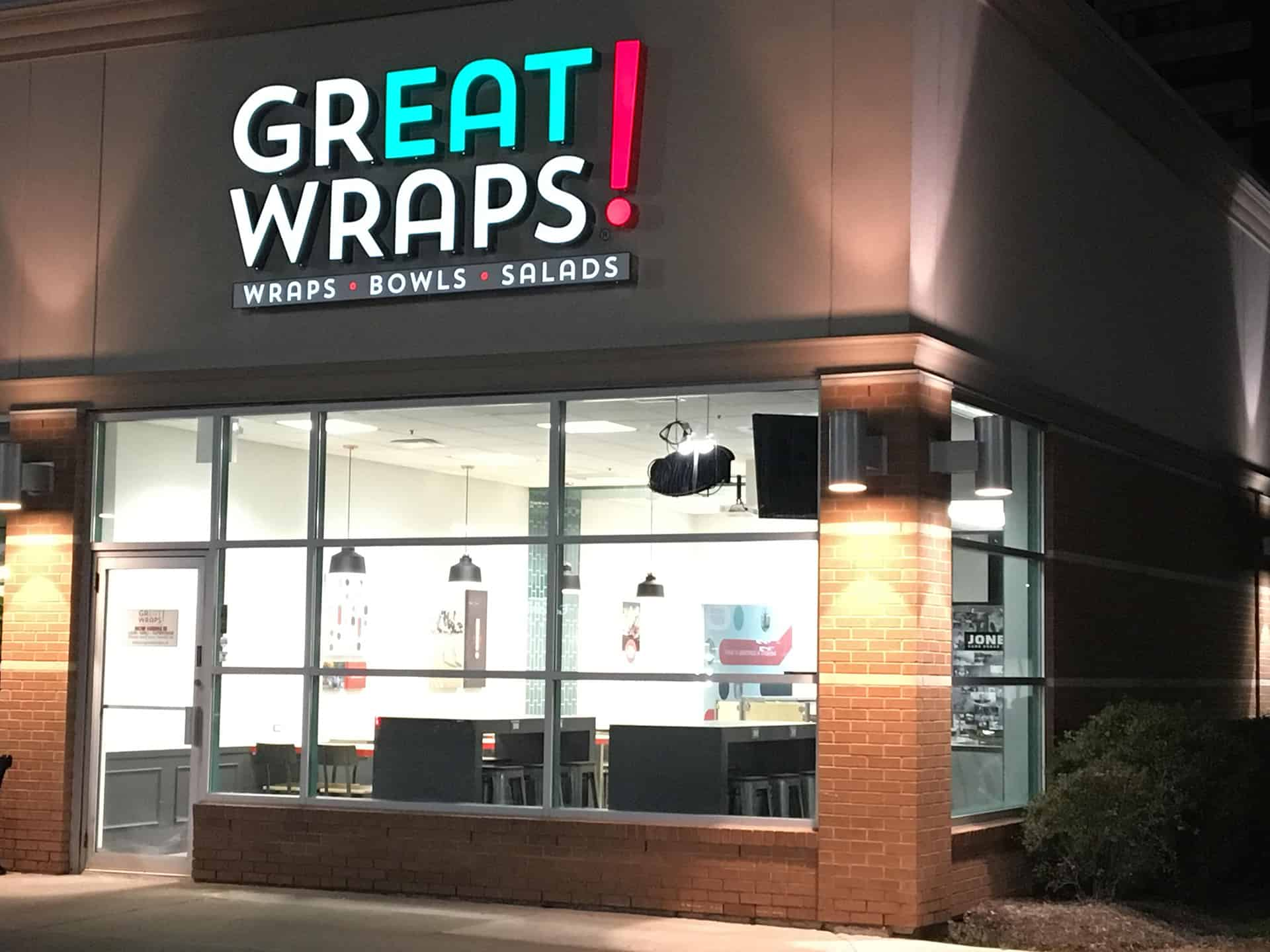 Great Wraps QSR restaurant rebranding and strategy