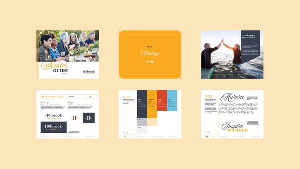 Holbrook active adult living branding and strategy design