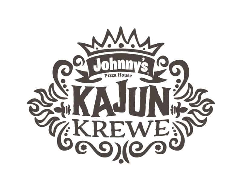 Johnny's Pizza House Kajun Krewe limited time offer marketing campaign creative logo design