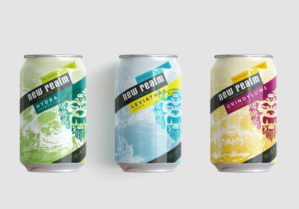 New Realm Brewing branding, naming, and package design for craft beer