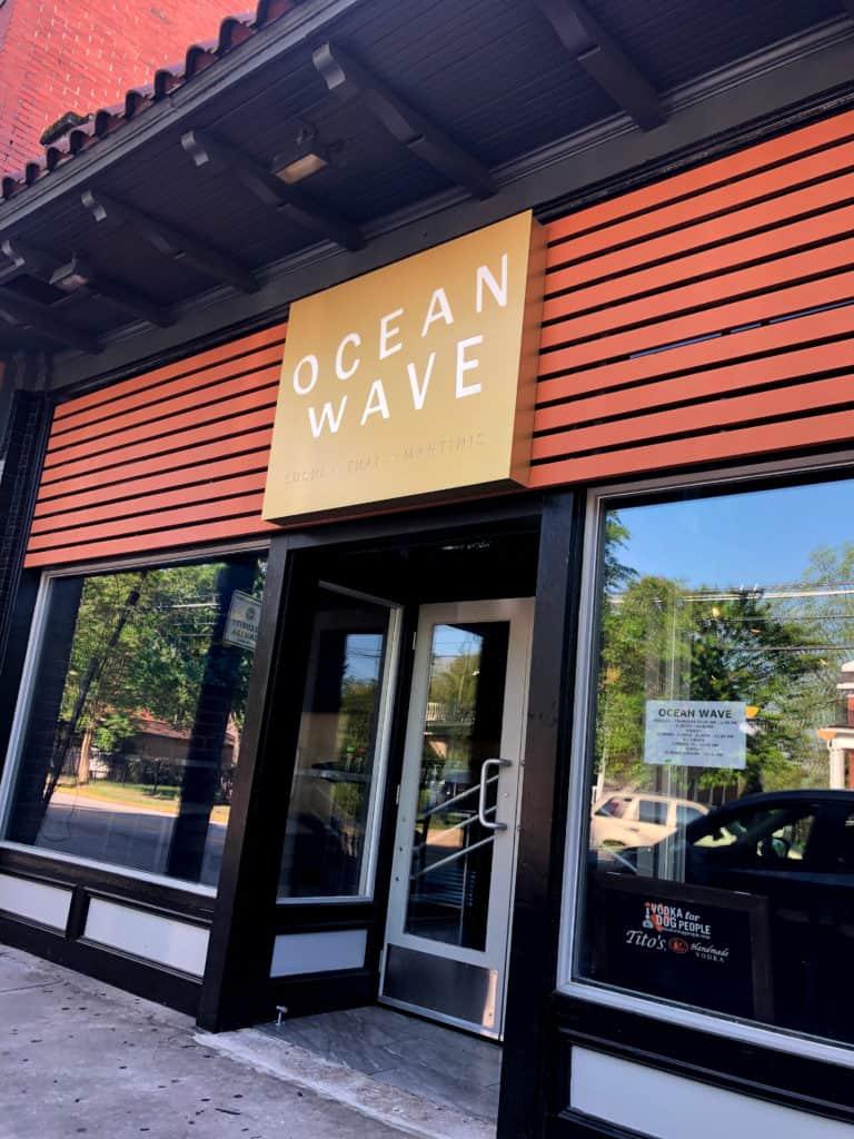 OceanWave sushi thai restaurant branding signage design