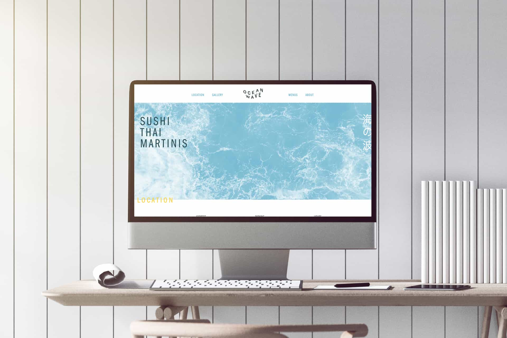 OceanWave thai sushi restaurant branding website design