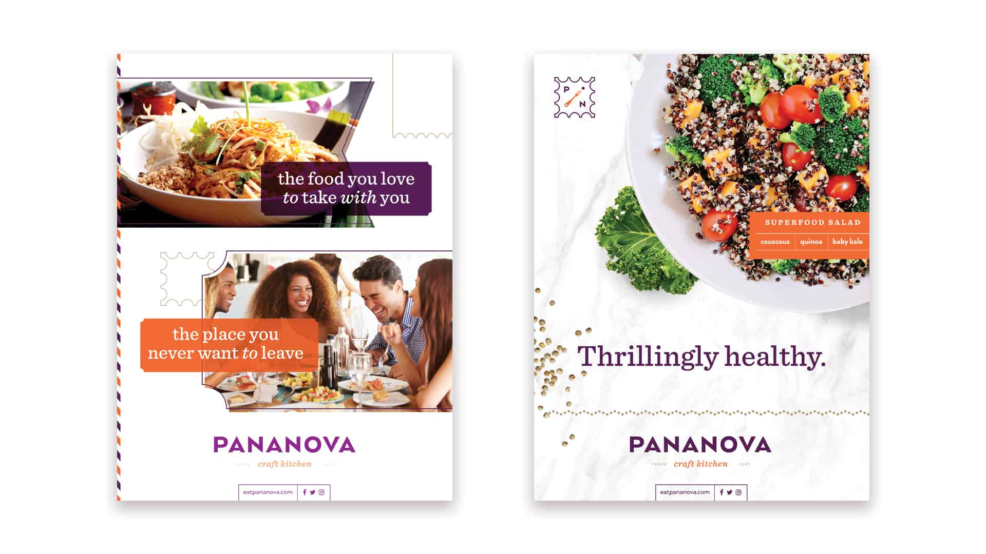PanaNova fast casual restaurant advertisements design and creative