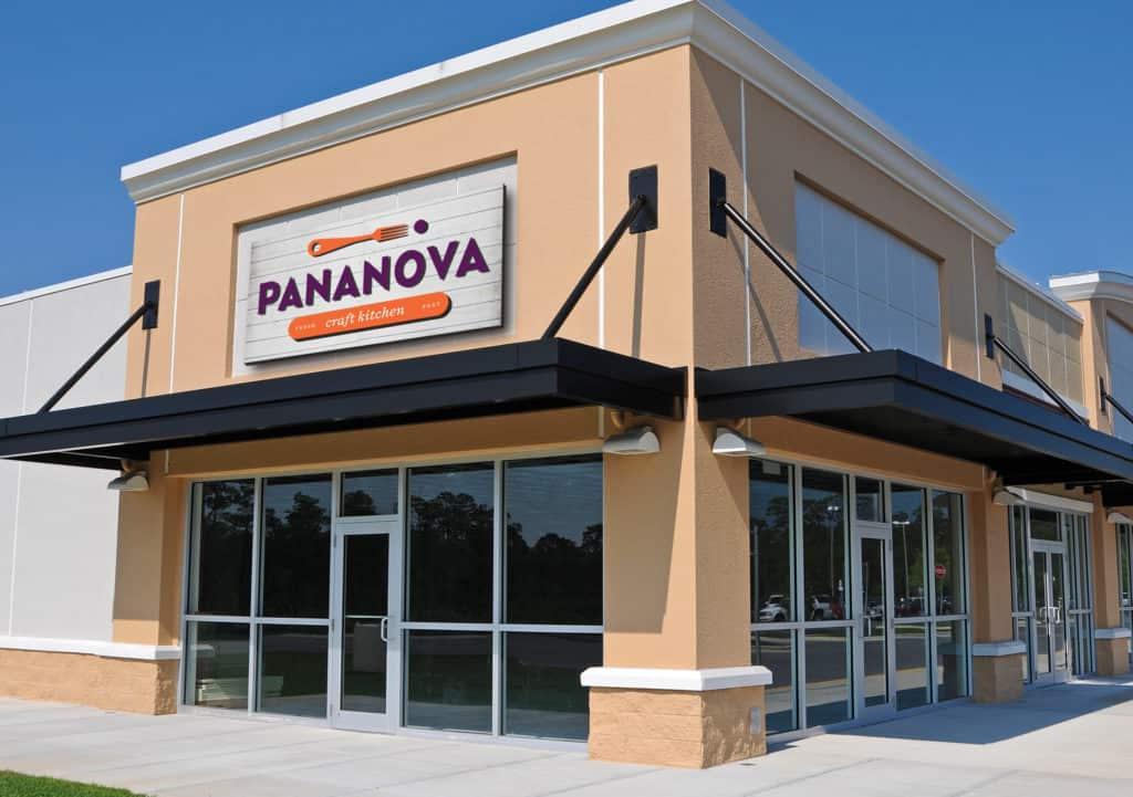 PanaNoa fast casual restaurant facade and signage design