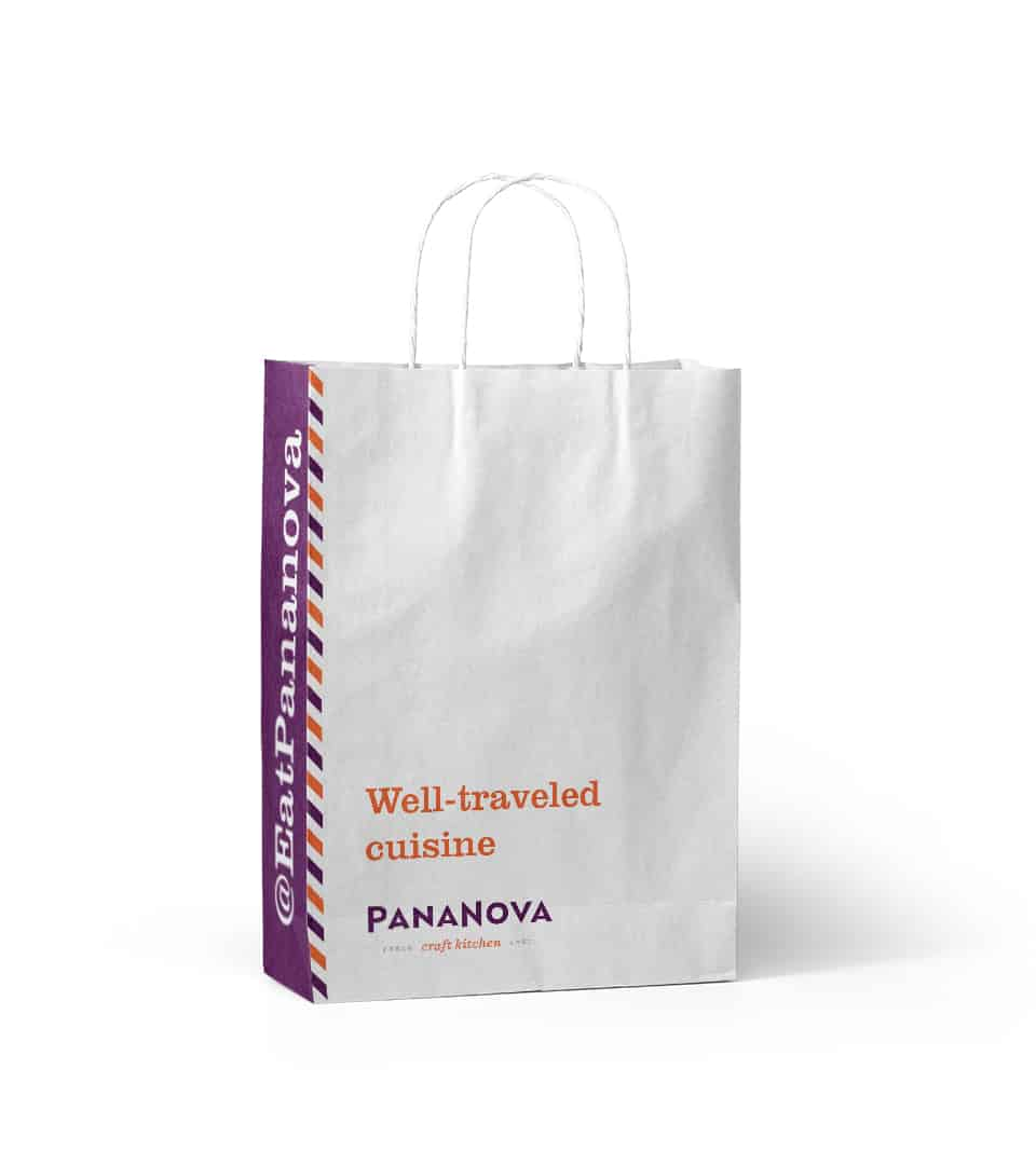 PanaNova fast casual restaurant package design