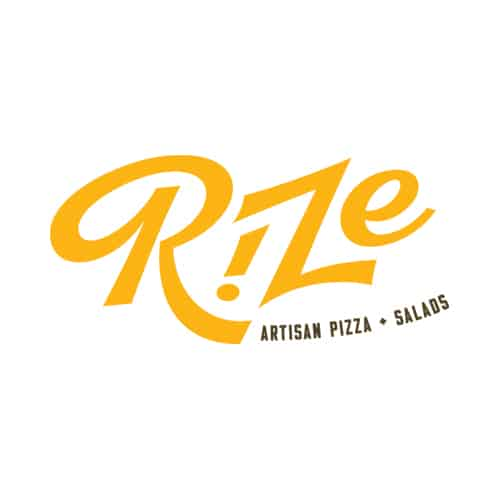 Rize Artisan Pizza fast casual restaurant branding and concept development logo design