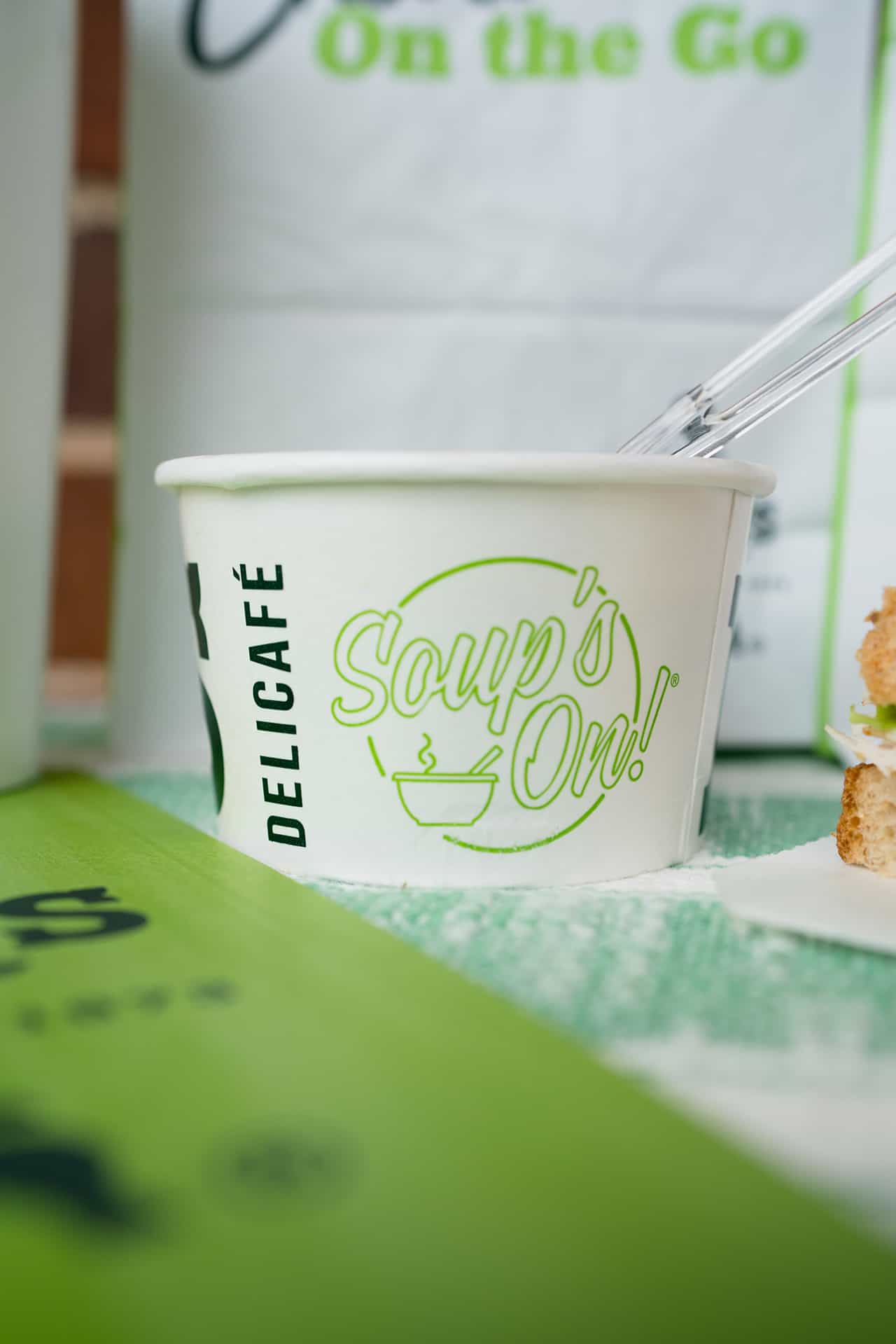 Erik's DeliCafé rebranding design takeout packaging design soup