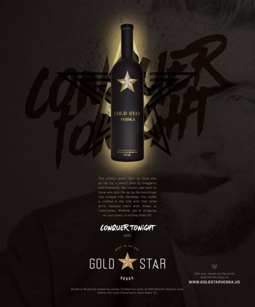 Gold Star Vodka branding and packaging design