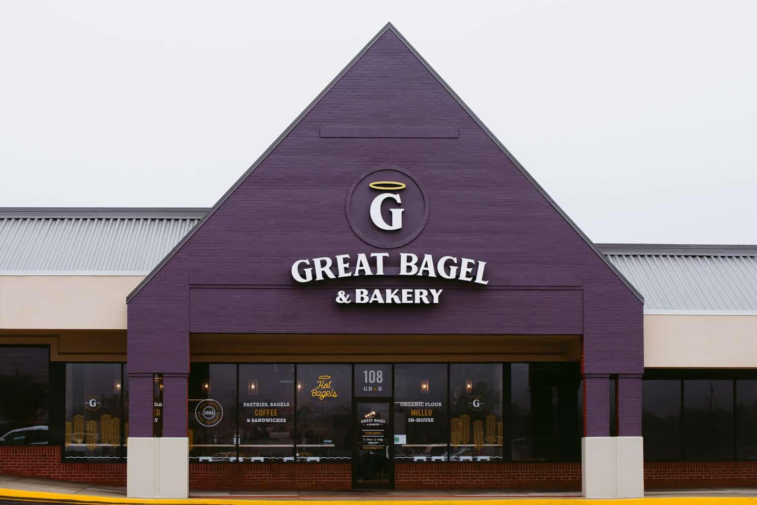 Great Bagel & Bakery restaurant rebranding and interior design