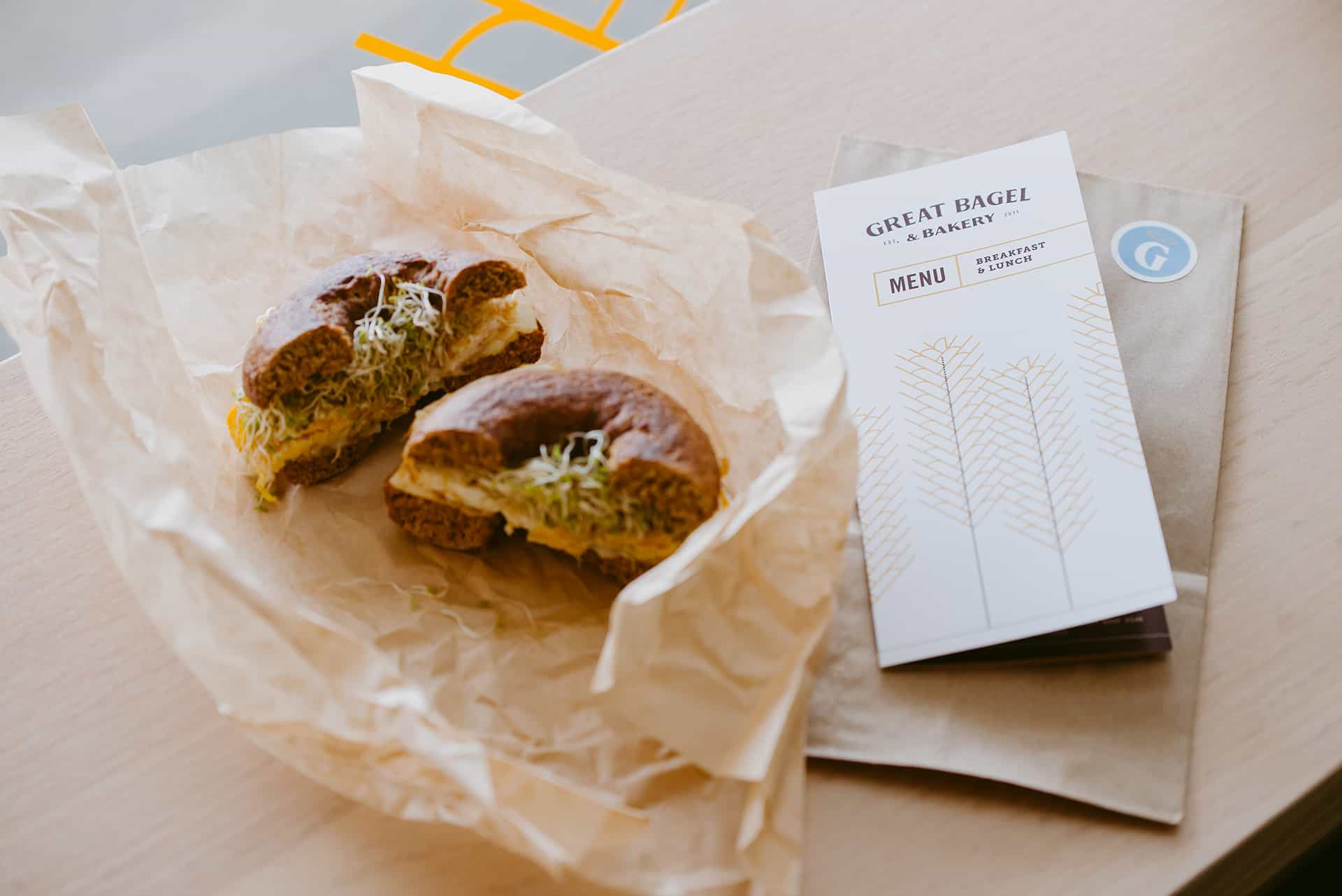 Great Bagel - restaurant branding menu design