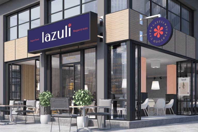 Lazuli cafe acai bowl restaurant branding rebranding and design