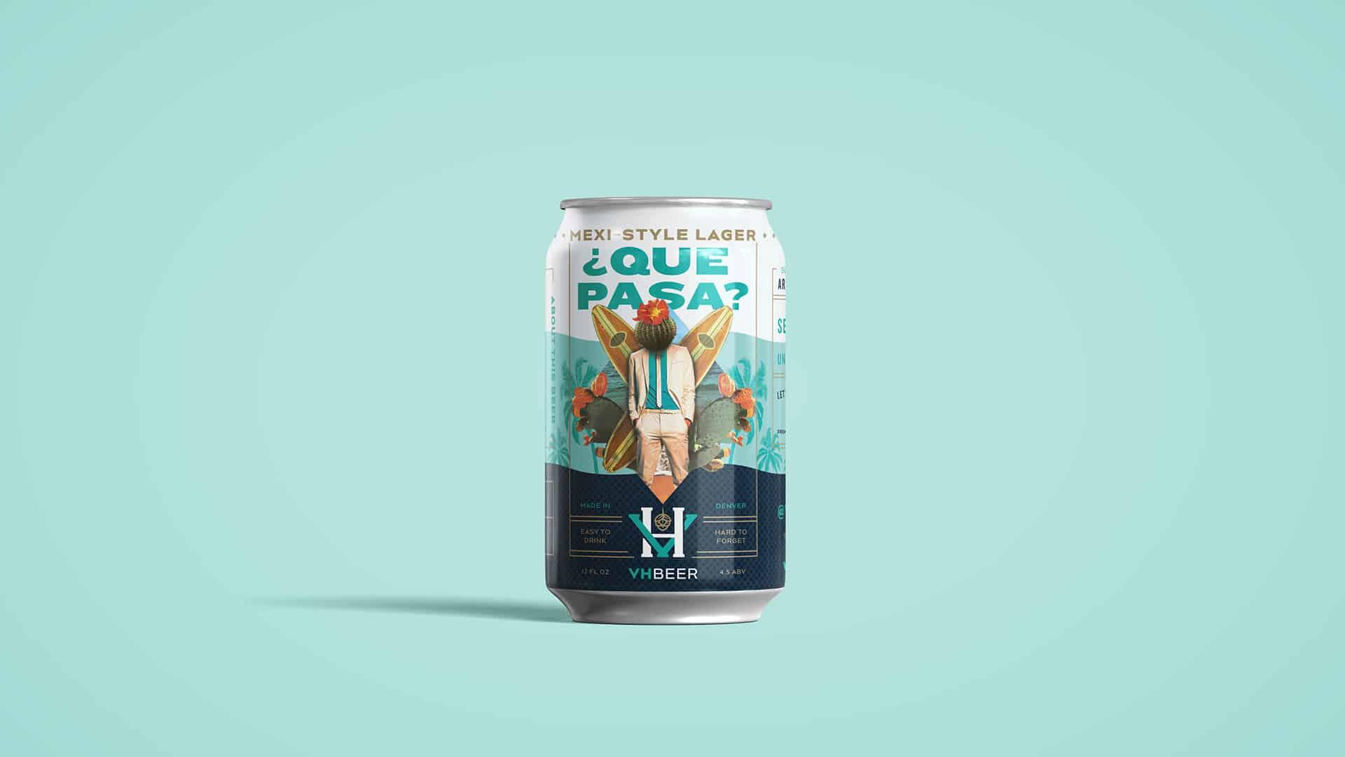 VHBeer craft beer packaging design can package