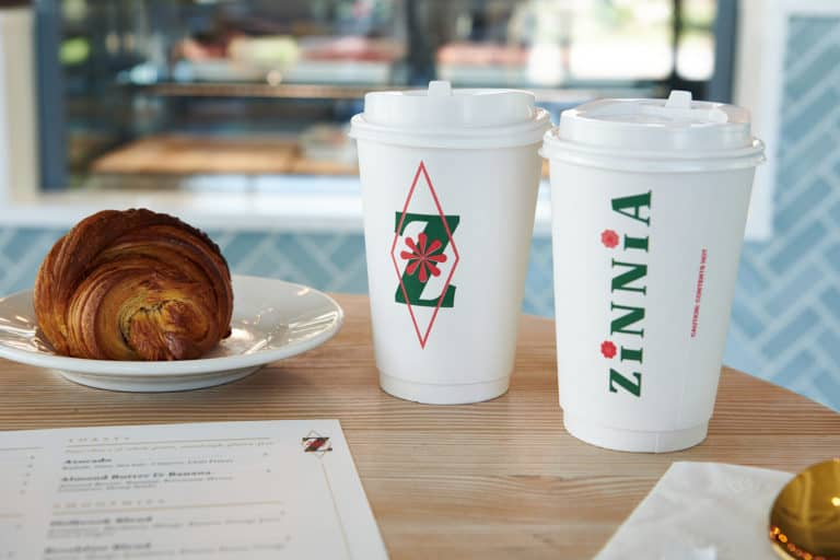 Zinnia bakery and cafe branding