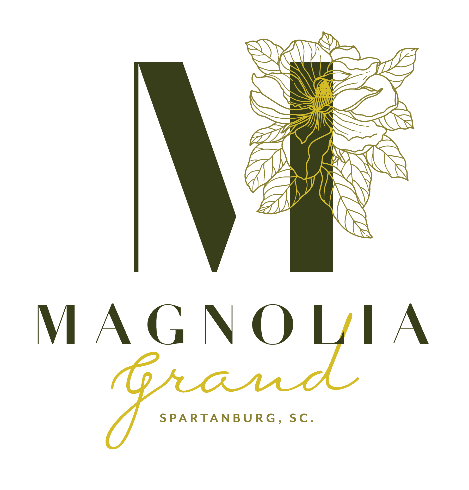 Magnolia Grand event space branding