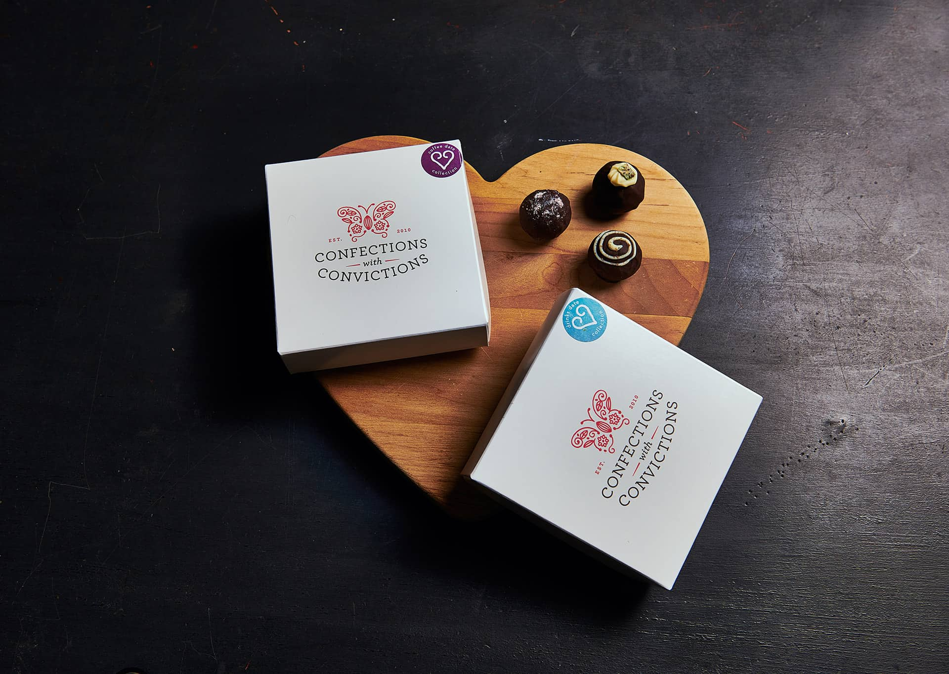 Confections with Convictions rebranding and identity design