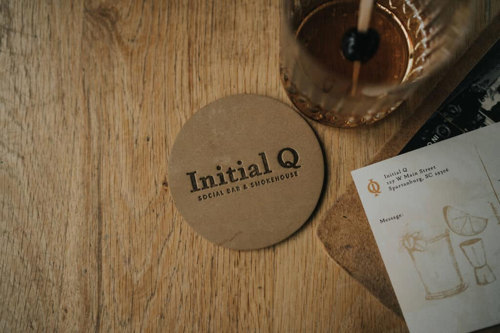 Initial Q barbecue full service restaurant branding & concept development