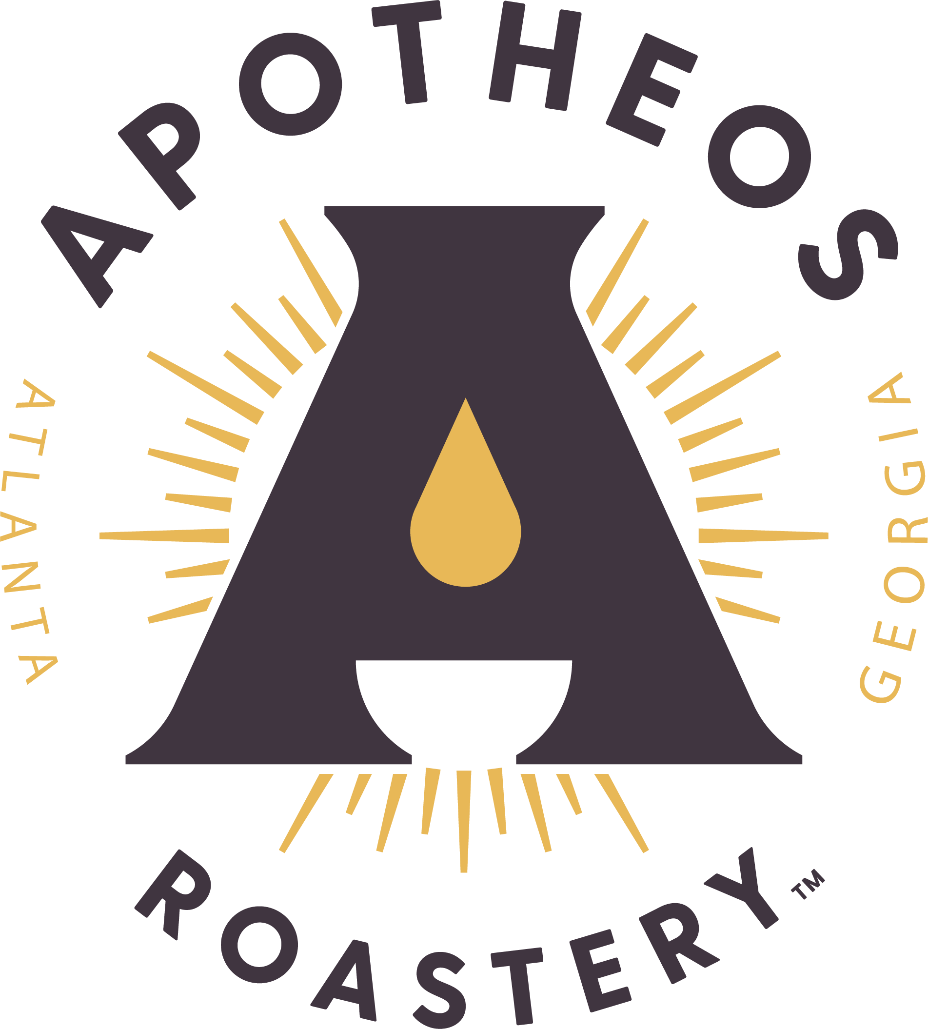 Apotheos Coffee Roastery brand identity design
