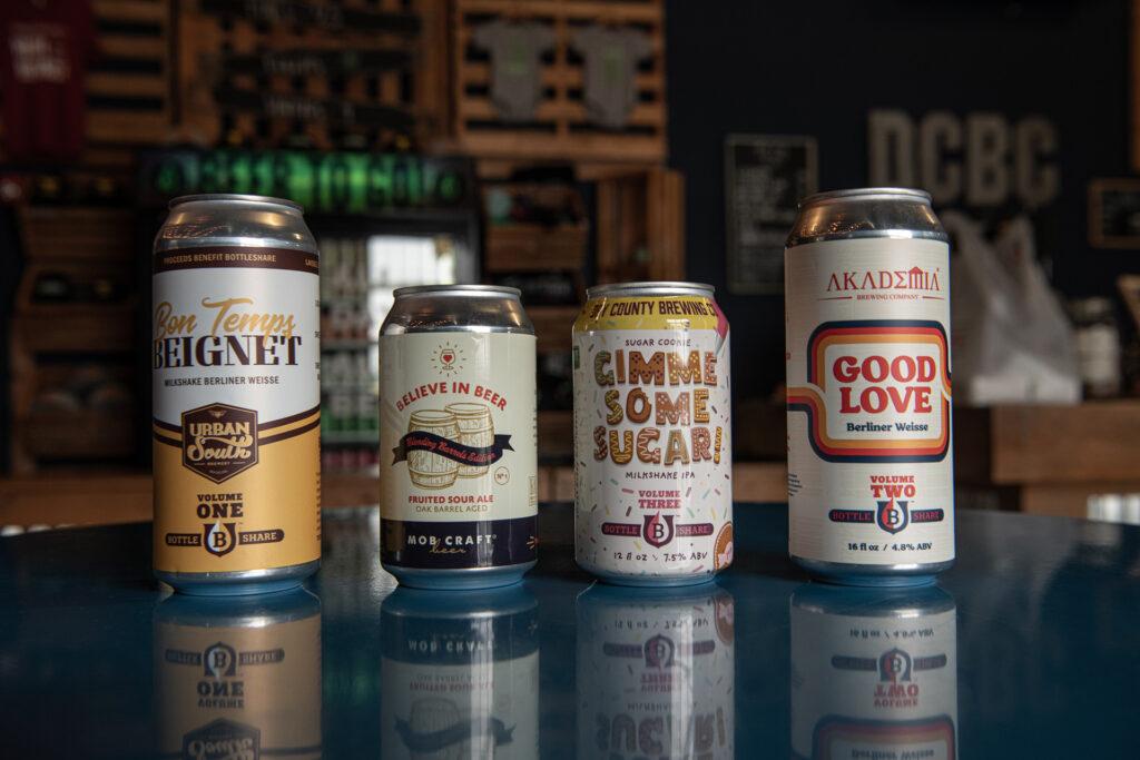 BottleShare craft beer nonprofit branding package design for beer collaborations