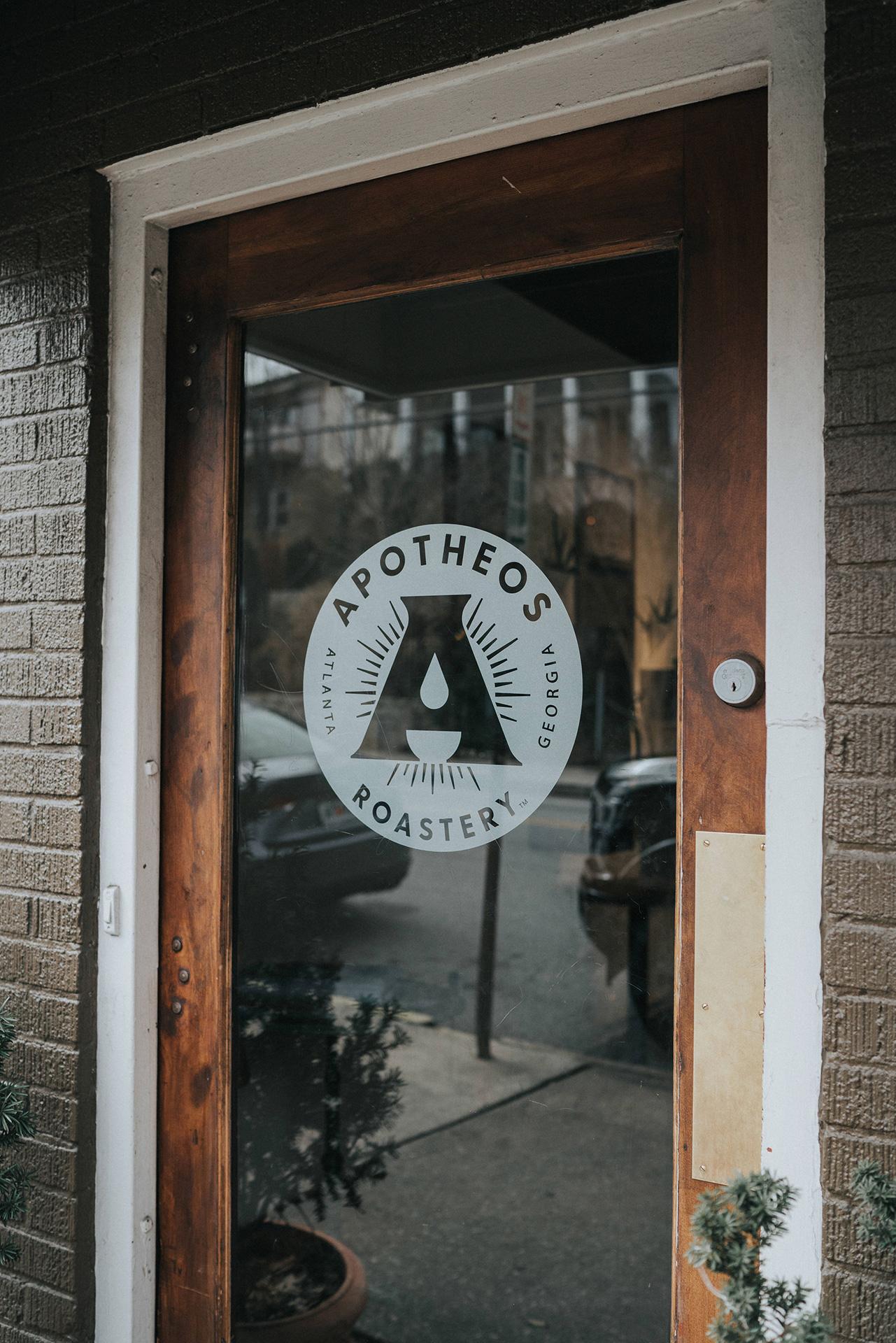 Apotheos Coffee Roastery branding cafe interior design