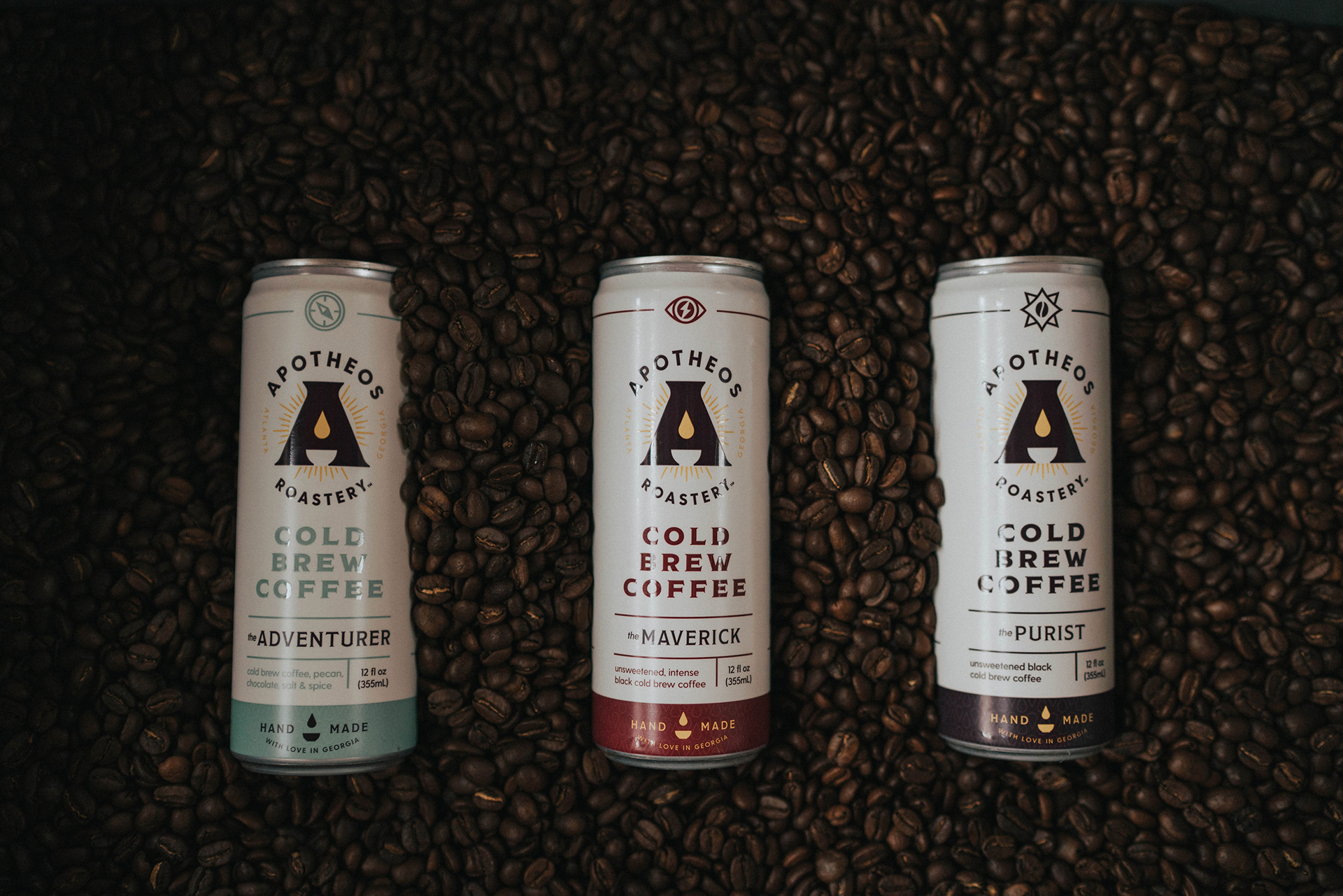 Apotheos coffee roastery branding and packaging design