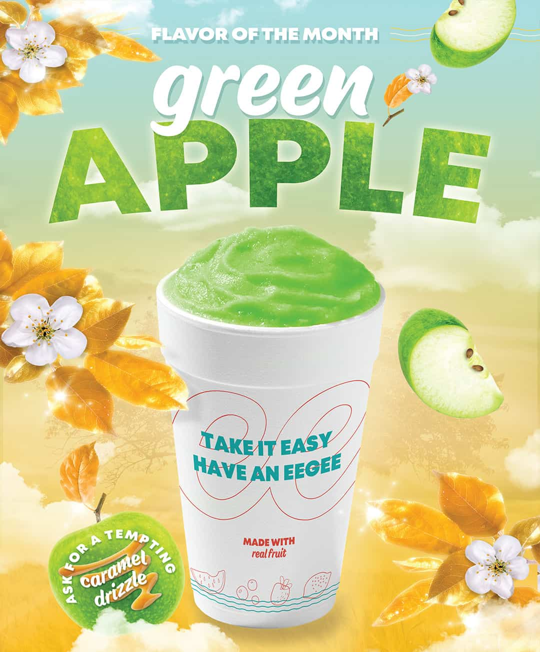 Monthly Restaurant Marketing & Advertising - Green Apple eegee